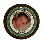 Elegant Baby s First Christmas 2010 - Ornament (Round)