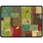 Deco Bird XL Fleece Blanket Collage - Fleece Blanket (Large)