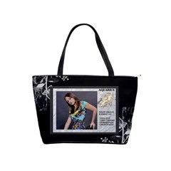 Aquarius Zodiac Shoulder Bag By Lil    Classic Shoulder Handbag   1lokfslxob08   Www Artscow Com Front