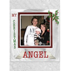 My Christmas Angel Card By Lil    Greeting Card 5  X 7    Mynadm351o5a   Www Artscow Com Front Cover
