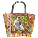Autumn Foliage Bucket Bag