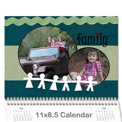 Simple Family Calendar 12 Month By Amanda Bunn   Wall Calendar 11  X 8 5  (12 Months)   Ds15i5ydhmpz   Www Artscow Com Cover