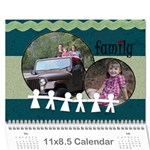 Simple Family Calendar 12 month - Wall Calendar 11  x 8.5  (12-Months)