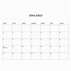 Simple Family Calendar 12 Month By Amanda Bunn   Wall Calendar 11  X 8 5  (12 Months)   Ds15i5ydhmpz   Www Artscow Com Jun 2019