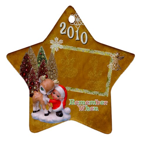 Elf  Santa Reindeerremember When 2010 Ornament 7 By Ellan   Ornament (star)   Yrpctfd35550   Www Artscow Com Front