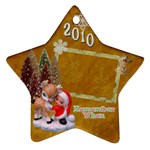 Elf  santa reindeerRemember when 2010 ornament 7 - Ornament (Star)