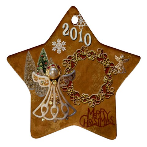 Angel Remember When 2010 Ornament 10 By Ellan   Ornament (star)   Fwm4yk9fa4r7   Www Artscow Com Front