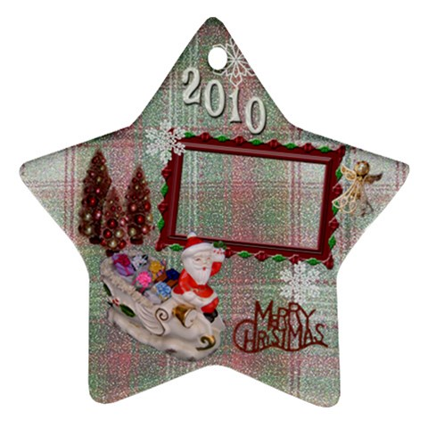 Santa Sleigh Remember When 2010 Ornament 20 By Ellan   Ornament (star)   St5mijm8lvi3   Www Artscow Com Front