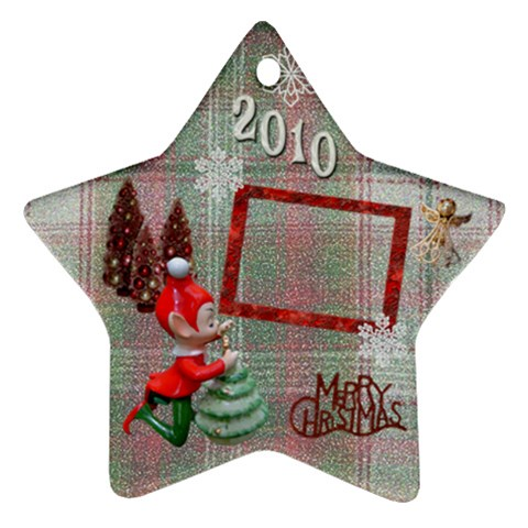 Elf Remember When 2010 Ornament 22 By Ellan   Ornament (star)   Ma1lzlhpv5jw   Www Artscow Com Front