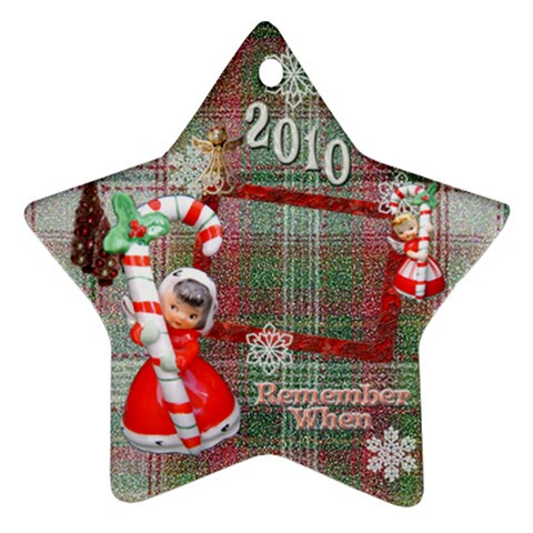 Angels Remember When 2010 Ornament 25 By Ellan   Ornament (star)   J5f3guv3q4fw   Www Artscow Com Front