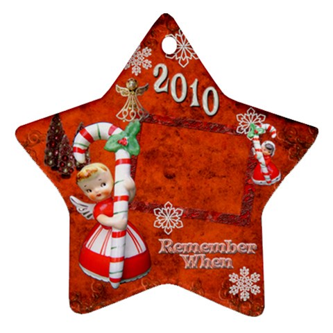 Angel Remember When 2010 Ornament 27 By Ellan   Ornament (star)   Zahhpaujrniu   Www Artscow Com Front