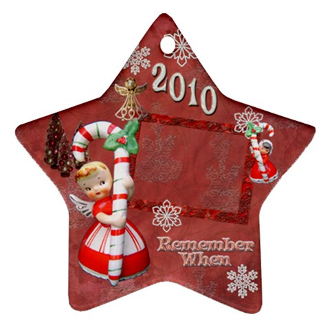 angel Remember when 2010 ornament 28 by Ellan Front