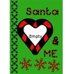 Santa and me - Custom Greeting Card 5  x 7