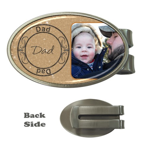 Dad Money Clip By Lil    Money Clip (oval)   Hddbznmozkg8   Www Artscow Com Front