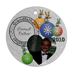 Grandfather Christmas Ornament By Lil    Round Ornament (two Sides)   L5q6jfxwas62   Www Artscow Com Front