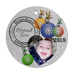 Grandson Christmas Ornament - Round Ornament (Two Sides)