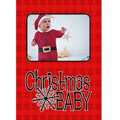 Christmas Baby   Custom Greeting Card 5  X 7  By Carmensita   Greeting Card 5  X 7    Ylq5notyc66n   Www Artscow Com Front Cover