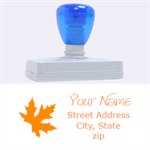 leaf address - Rubber Address Stamp (XL)