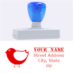 birdy stamp - Rubber Address Stamp (XL)