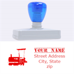 train stamp - Rubber Address Stamp (XL)