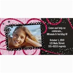 4x8 Zebra Glitter Birthday Photo Card By Mikki   4  X 8  Photo Cards   Uxnsllgbkmuo   Www Artscow Com 8 x4 Photo Card - 1