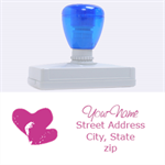 hearts stamp - Rubber Address Stamp (XL)