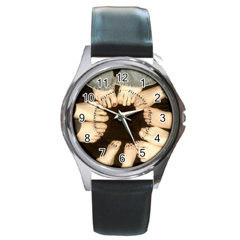 Family Round Watch By Amanda Bunn   Round Metal Watch   9kwljz5jj947   Www Artscow Com Front