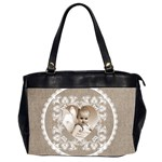 Lacy Heart moccachino oversized office bag - Oversize Office Handbag (2 Sides)