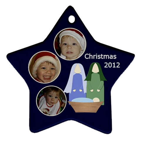Christmas Nativity Star Ornament By Mim   Ornament (star)   Qf986f0ronyn   Www Artscow Com Front