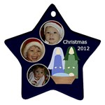 Christmas Nativity Star Ornament - Ornament (Star)