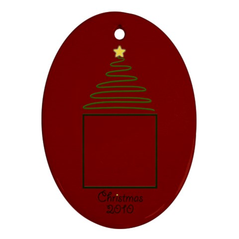 Christmas Oval Ornament By Mim   Ornament (oval)   Eehddcya1q00   Www Artscow Com Front