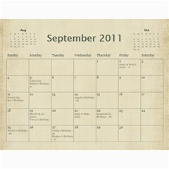 2011 calendar by BARB HENSLEY Sep 2011
