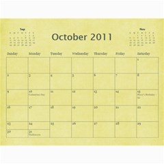 2011 calendar by BARB HENSLEY Oct 2011