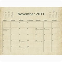 2011 calendar by BARB HENSLEY Nov 2011