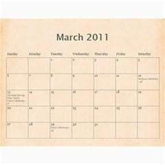 2011 Calendar By Barb Hensley   Wall Calendar 11  X 8 5  (12 Months)   Zgkhex7ioaen   Www Artscow Com Mar 2011