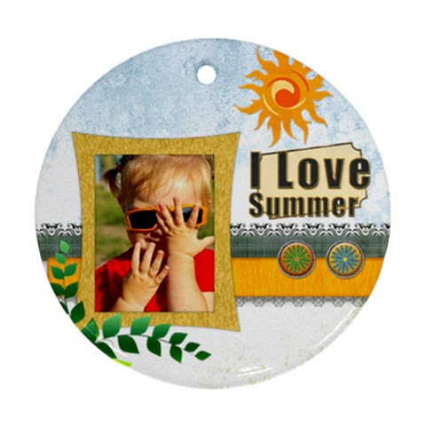 Love, Summer By Joely   Ornament (round)   Ypima3k43bnm   Www Artscow Com Front