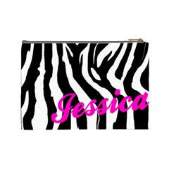 Casual Pink Cosmetic Bag By Jorge   Cosmetic Bag (large)   Zbvseqj2yqdy   Www Artscow Com Back