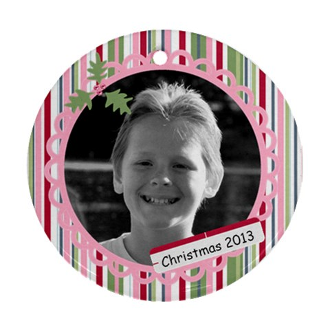Photo Ornament 7 By Martha Meier   Ornament (round)   Yupvnyc9oq7y   Www Artscow Com Front