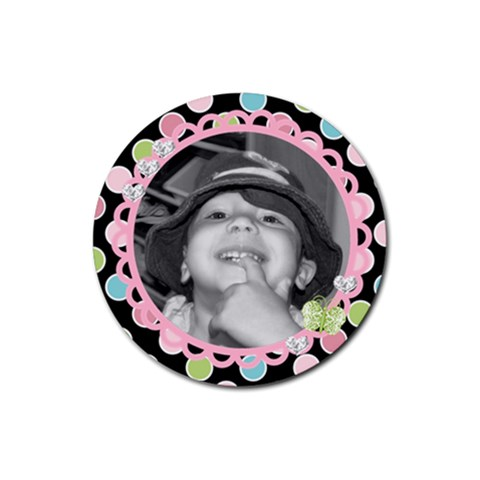 Cute Photo Coaster 2 By Martha Meier   Rubber Round Coaster (4 Pack)   Rs9wbva8h6jy   Www Artscow Com Front