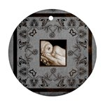 art nouveau grey single pic round single side ornament - Ornament (Round)