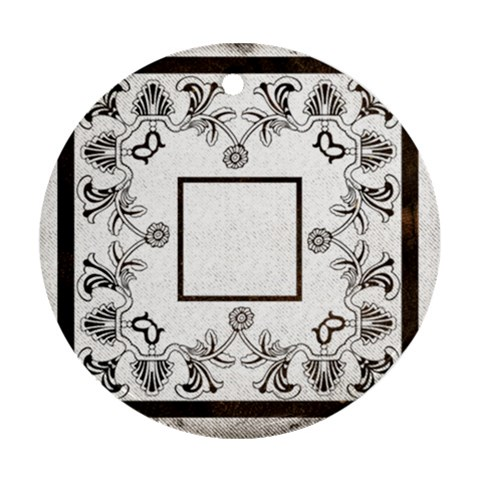 Art Nouveau Monochrome Round Single Side Ornament By Catvinnat   Ornament (round)   79kcs1v9ono3   Www Artscow Com Front