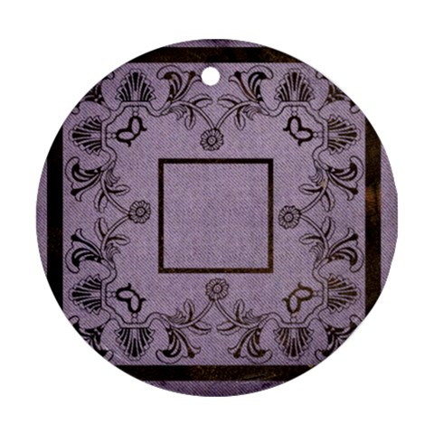 Art Nouveau Purple Round Single Side Ornament By Catvinnat   Ornament (round)   Xs4whicavja4   Www Artscow Com Front