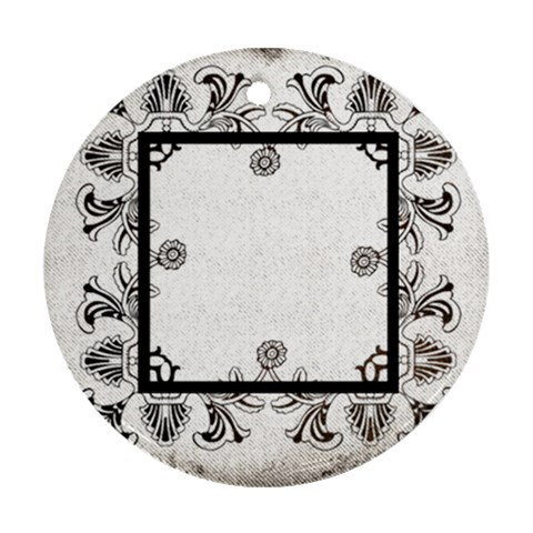Art Nouveau Monochrome Laceround Single Side Ornament By Catvinnat   Ornament (round)   56krb5s6ssii   Www Artscow Com Front