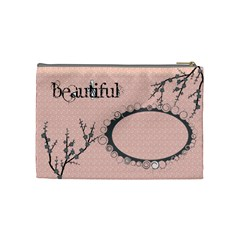 Cherry Blossom By Jackie Sanchez   Cosmetic Bag (medium)   W6zwnzj942mn   Www Artscow Com Back