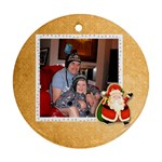 jolly santa christmas round ornament - Ornament (Round)