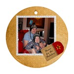 home for the holidays christmas round ornament - Ornament (Round)