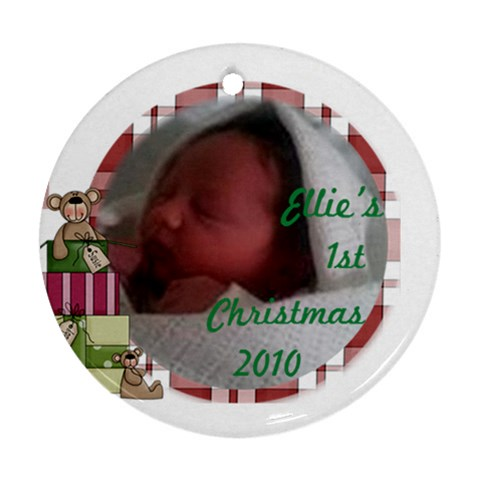Ellie By Natalie Reeves   Ornament (round)   5474gct4cc0l   Www Artscow Com Front