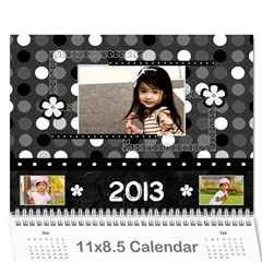 2013 Calendar 12 Mos Black & White By Angel   Wall Calendar 11  X 8 5  (12 Months)   5q5nh0iw012l   Www Artscow Com Cover