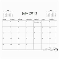 2013 Calendar 12 Mos Black & White By Angel   Wall Calendar 11  X 8 5  (12 Months)   5q5nh0iw012l   Www Artscow Com Jul 2013