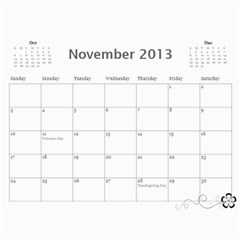 2013 Calendar 12 Mos Black & White By Angel   Wall Calendar 11  X 8 5  (12 Months)   5q5nh0iw012l   Www Artscow Com Nov 2013